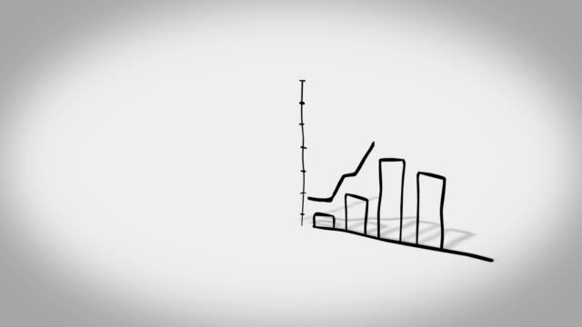 chart cartoon style - arrow symbol stock videos & royalty-free footage