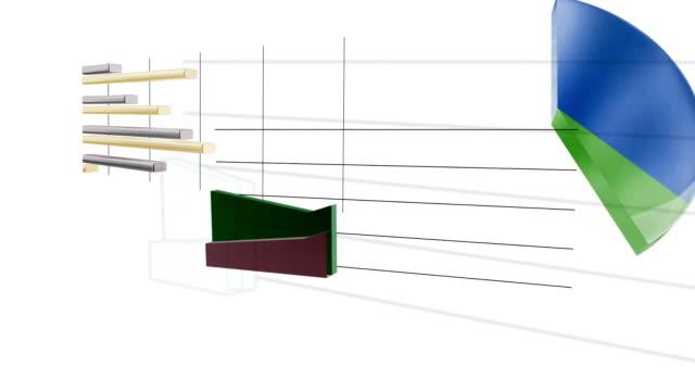 vídeos y material grabado en eventos de stock de collage de gráfico - diagrama de flujo