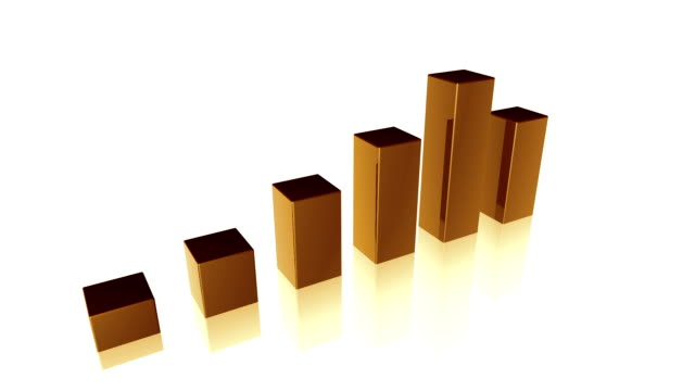3d chart - bar chart stock videos & royalty-free footage