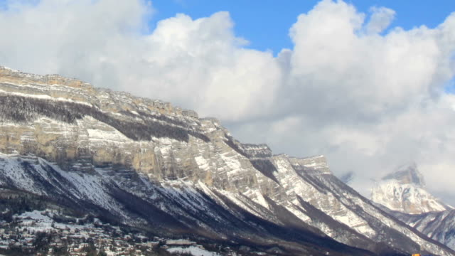 chartreusse mountains covered in snow - physical geography stock videos & royalty-free footage