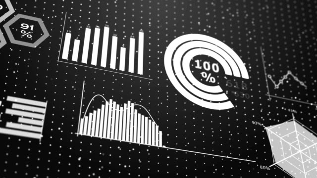 charts infographic background - sorveglianza video stock e b–roll