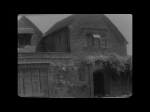 chartwell to be open to the public:; england: kent: chartwell: gvs garden mr victor vincent interview sof wall with plaque gvs buildings - peter snow stock videos & royalty-free footage
