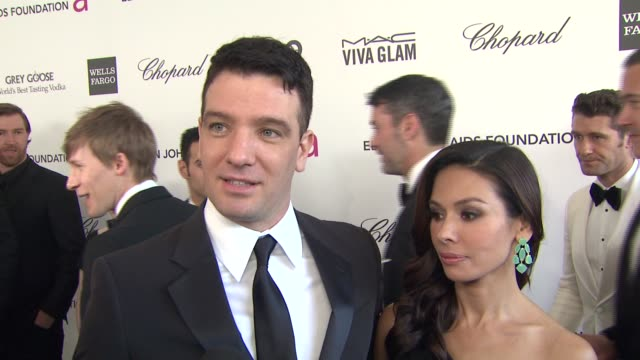 chasez at elton john aids foundation presents 21st annual academy awards viewing party 2/24/2013 in west hollywood ca - jc chasez stock videos & royalty-free footage