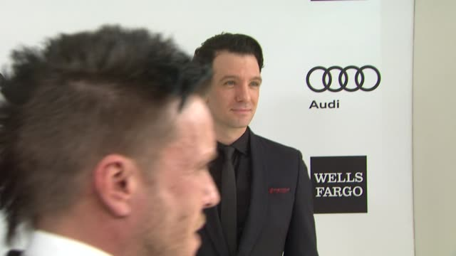 jc chasez at elton john aids foundation presents 22nd annual academy awards viewing party sponsored by chopard neuro drinks and wells fargo on march... - jc chasez stock videos & royalty-free footage
