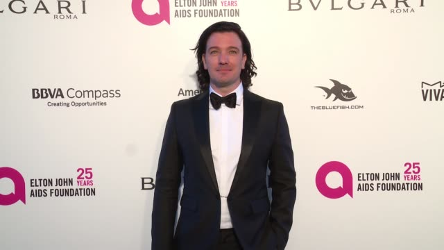 jc chasez at elton john aids foundation presents the 26th annual academy awards viewing party on march 04 2018 in west hollywood california - jc chasez stock-videos und b-roll-filmmaterial