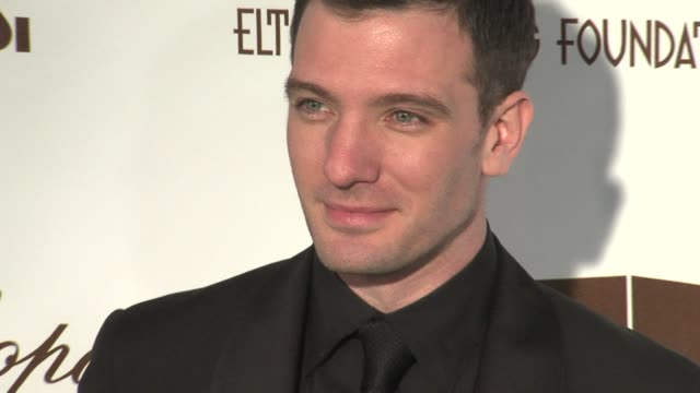 jc chasez at the 14th annual elton john aids foundation oscar party cohosted by audi chopard and vh1 at the pacific design center in west hollywood... - jc chasez stock videos & royalty-free footage