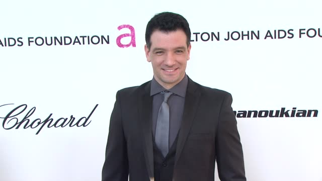 jc chasez at the 19th annual elton john aids foundation academy awards viewing party at west hollywood ca - jc chasez stock videos & royalty-free footage