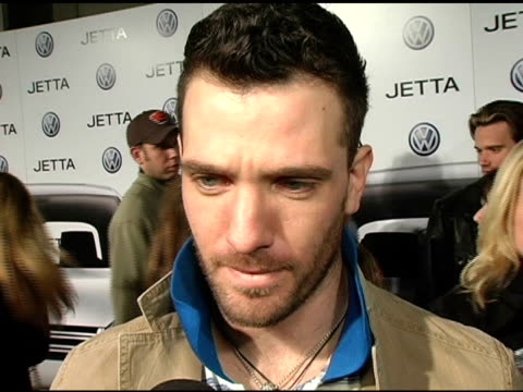 jc chasez at the 2005 volkswagen jetta premiere party arrivals and inside at the lot in hollywood california on january 5 2005 - jc chasez stock-videos und b-roll-filmmaterial