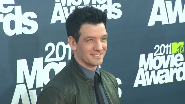 jc chasez at the 2011 mtv movie awards at los angeles ca - jc chasez stock videos & royalty-free footage