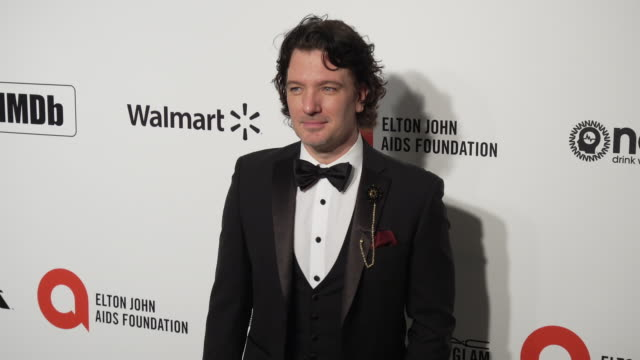jc chasez at the 28th annual elton john aids foundation academy awards viewing party sponsored by imdb walmart and neuro drinks at the city of west... - jc chasez stock videos & royalty-free footage