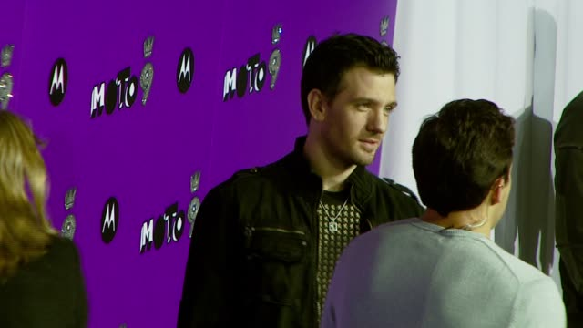 jc chasez at the 9th annual anniversary party hosted by motorola with special performance by kelly clarkson at the lot in west hollywood california... - jc chasez stock-videos und b-roll-filmmaterial