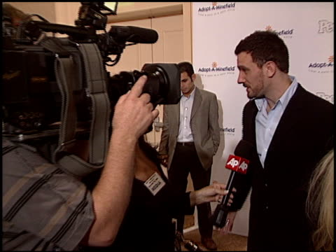 jc chasez at the adoptaminefield gala at the beverly hilton in beverly hills california on november 15 2005 - jc chasez stock videos & royalty-free footage