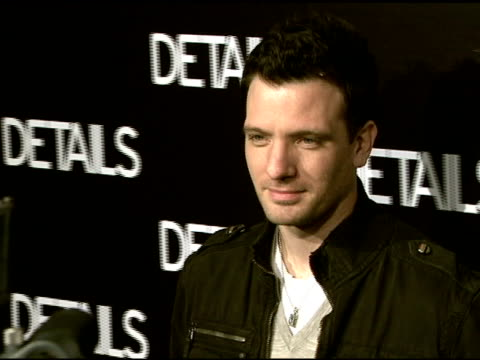 jc chasez at the details magazine celebrates 'mavericks 2008' at null in beverly hills california on march 21 2008 - jc chasez stock-videos und b-roll-filmmaterial