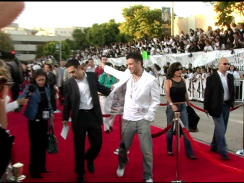 jc chasez at the 'mr and mrs smith' world premiere at the mann village theatre in westwood california on june 7 2005 - jc chasez stock videos & royalty-free footage