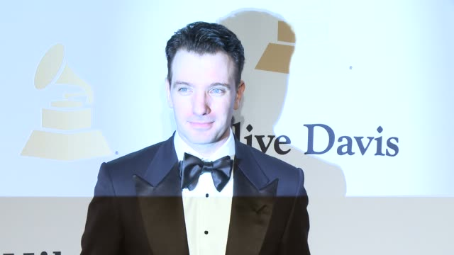 jc chasez at the pregrammy gala and salute to industry icons honoring martin bandier at the beverly hilton hotel on february 07 2015 in beverly hills... - jc chasez stock videos & royalty-free footage