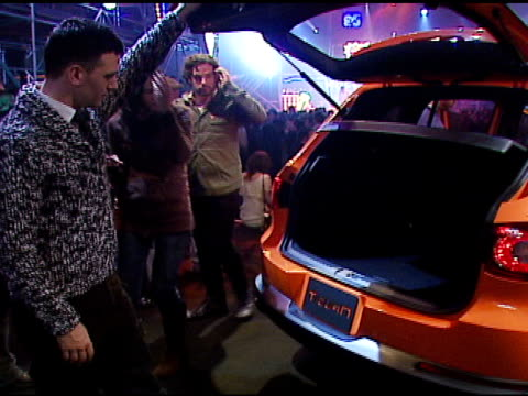 jc chasez at the us premiere of concept car tiguan presented by volkswagen at raleigh studios in hollywood california on november 28 2006 - jc chasez stock videos & royalty-free footage