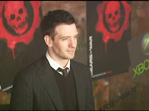 jc chasez at the xbox 360 'gears of war' launch at hollywood forever cemetery in los angeles california on october 25 2006 - jc chasez stock-videos und b-roll-filmmaterial