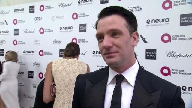 chasez on the event and on elton john at the 23rd annual elton john aids foundation academy awards viewing party sponsored by chopard neuro drinks... - jc chasez stock videos & royalty-free footage