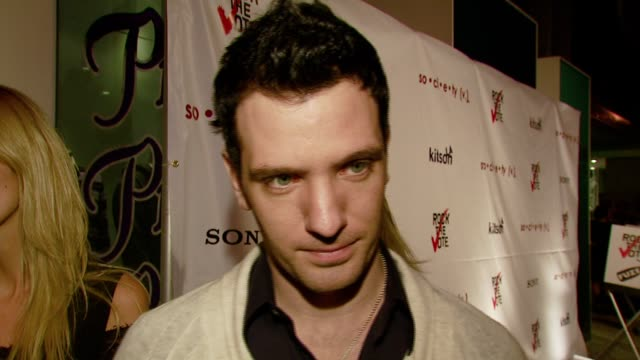 chasez on why this is an important election to vote in on how rock the vote was around when he was younger who informed him on voting and his first... - jc chasez stock-videos und b-roll-filmmaterial