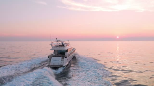 chasing the sunset - luxury yacht - yacht stock videos & royalty-free footage