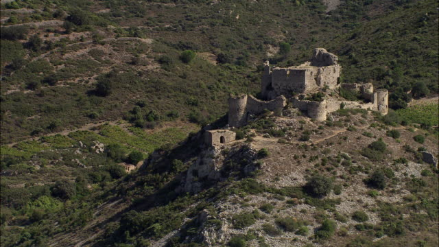 chateau d'aguilar - circa 12th century stock videos and b-roll footage
