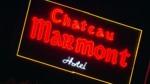 MS, Chateau Marmont hotel neon sign / Hollywood, California, United States.