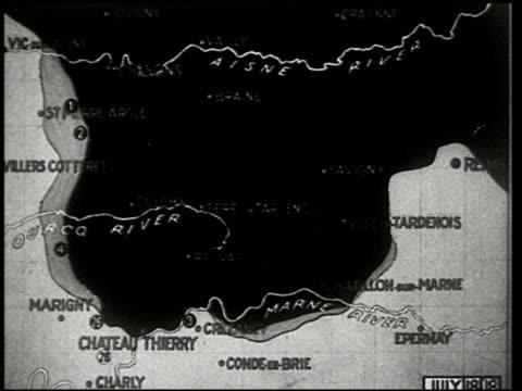vídeos de stock e filmes b-roll de chateau thierry and the aisne-marne operation - 4 of 8 - veja outros clipes desta filmagem 2326