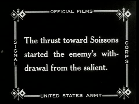 chateau thierry and the aisne-marne operation - 7 of 8 - world war i stock videos and b-roll footage