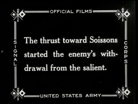 vídeos de stock e filmes b-roll de chateau thierry and the aisne-marne operation - 7 of 8 - veja outros clipes desta filmagem 2326
