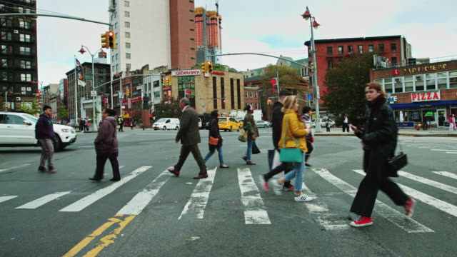 chatham square, chinatown, new york city - chatham new york state stock videos & royalty-free footage