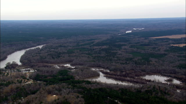 Chattahoochee River And Border With Alabama  - Aerial View - Alabama,  Russell County,  United States
