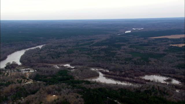 Chattahoochee River und die Grenze zu Alabama - Luftbild - Alabama, Russell County, Vereinigte Staaten von Amerika
