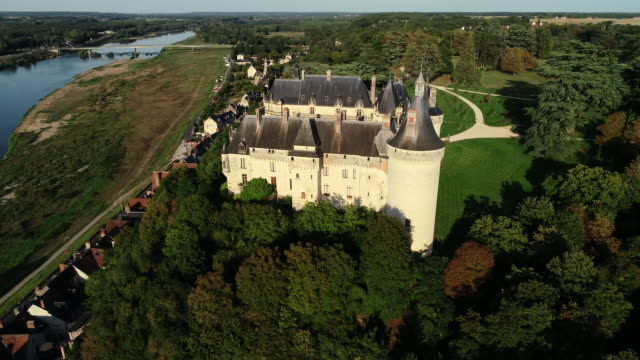 chaumont sur loire village, loire valley, france - 城点の映像素材/bロール