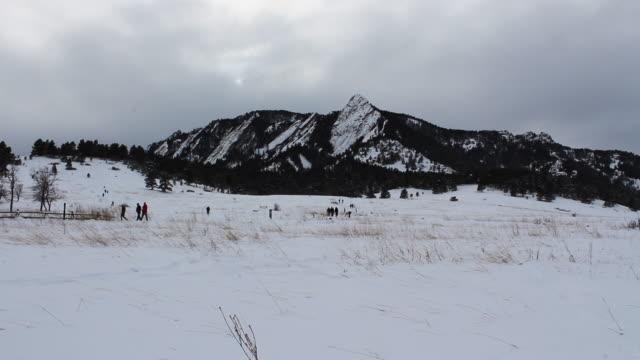 Chautauqua Park, wide winter snow shot