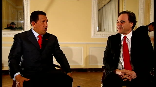 Chavez asking Stone if he has worked with Sean Connery and talking about how much he likes James Bond SOT