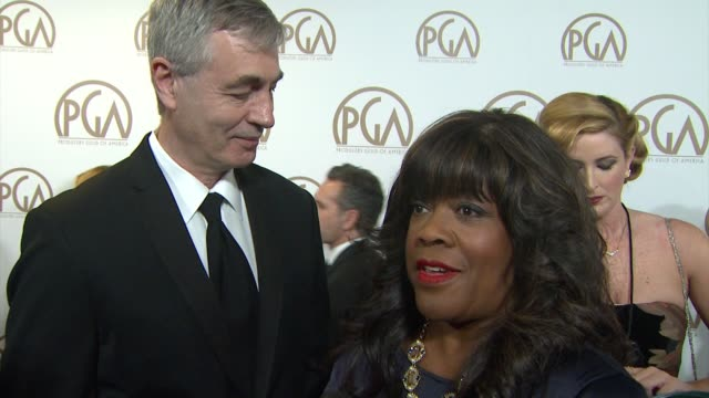 vidéos et rushes de chaz ebert, steve james on being nominated for life itself at 26th annual producers guild awards in los angeles, ca 1/24/15 - producer's guild of america awards
