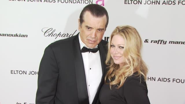 vídeos de stock e filmes b-roll de chazz palminteri at the 18th annual elton john aids foundation oscar party at west hollywood ca. - festa do óscar