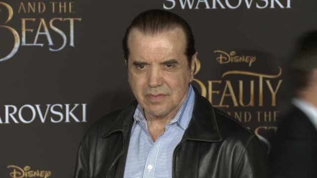 """chazz palminteri at the premiere of disney's """"beauty and the beast"""" at the el capitan theatre on march 02, 2017 in hollywood, california. - エルキャピタン劇場点の映像素材/bロール"""