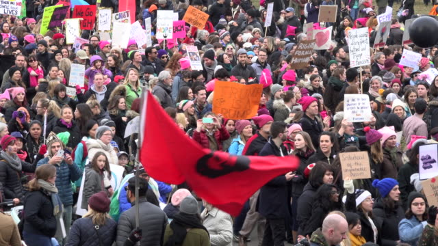 che guevara flag presence in the march protest women and their allies marched in support of the women's march in washington toronto city saw one of... - che guevara stock videos & royalty-free footage