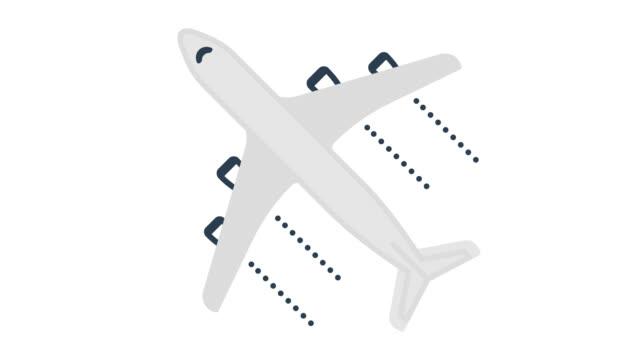 vídeos de stock e filmes b-roll de cheap flights glitch effect icon animation with alpha - forma
