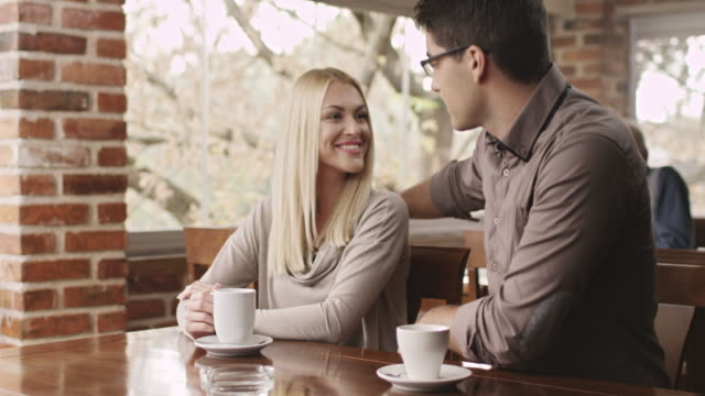 cheating in cafe - husband stock videos & royalty-free footage