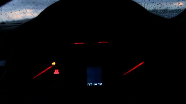Check light warning and start engine car