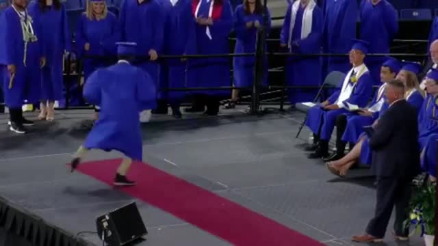 check out what this guy does when he is called up to receive his diploma priceless - diploma stock videos & royalty-free footage