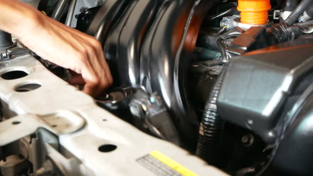 check the lubricant level - car mechanic stock videos & royalty-free footage