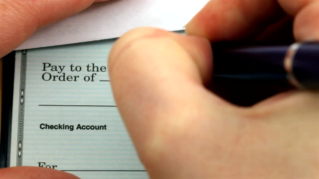 check writing for credit cards - cheque financial item stock videos & royalty-free footage
