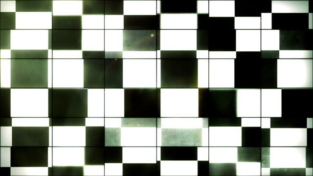 vidéos et rushes de drapeau à damiers-grid panneaux loop (full hd) - télévision haute définition