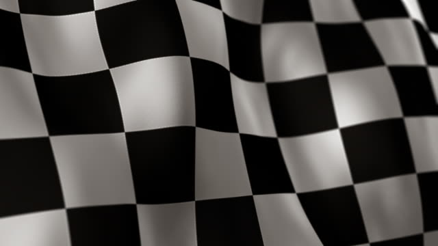 checkered flag high detail - looping - checked pattern stock videos & royalty-free footage