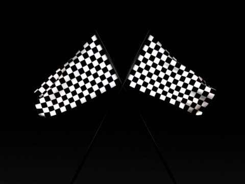 checkered flag title card sd (ntsc) - checked pattern stock videos & royalty-free footage