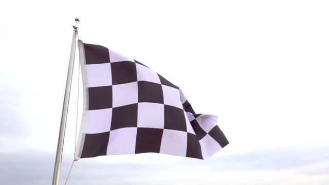 checkered flag - finishing stock videos and b-roll footage