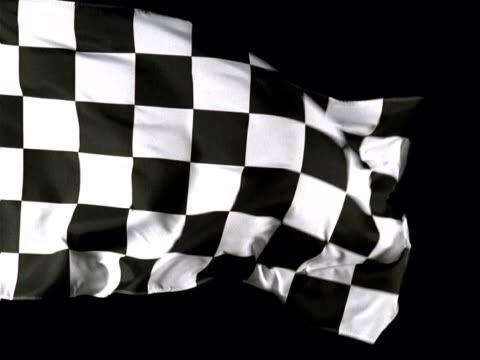 a checkered flag - artbeats stock-videos und b-roll-filmmaterial